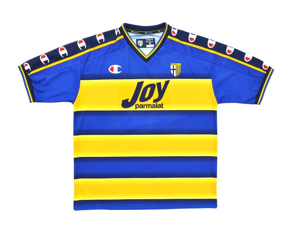 Image of 2001-02 Champion Parma Home Shirt 'Nakata 10' M