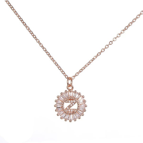 Image of Small Rose Gold Initial necklace