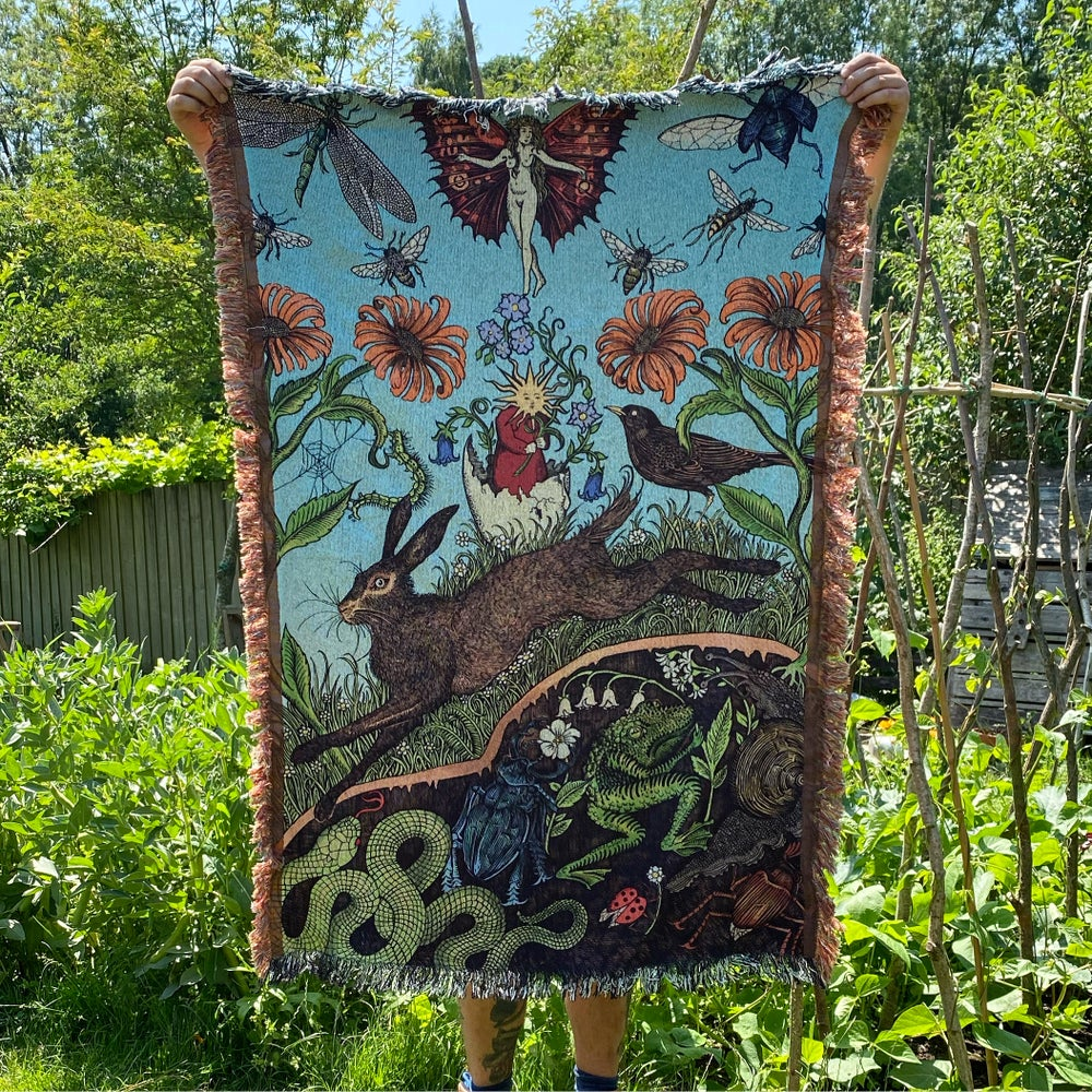 Image of 'All is pushing through' blanket (pre order)