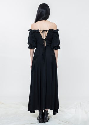Image of Two Way Ruffle Detailed Off Shoulder Long Dress