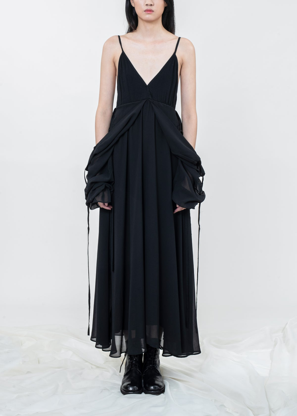 Image of Two Way Layered Sleeves Ruth Dress