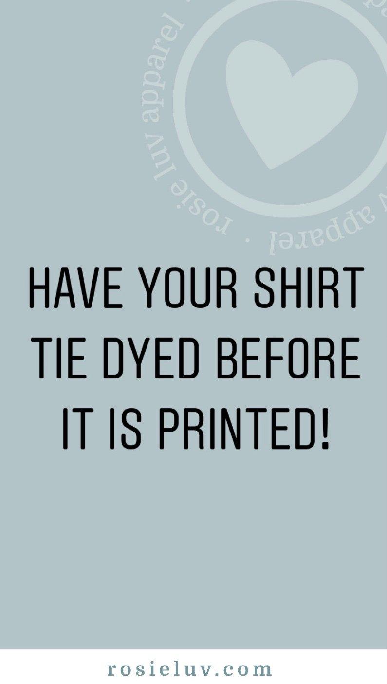 Image of Tie Dye Option