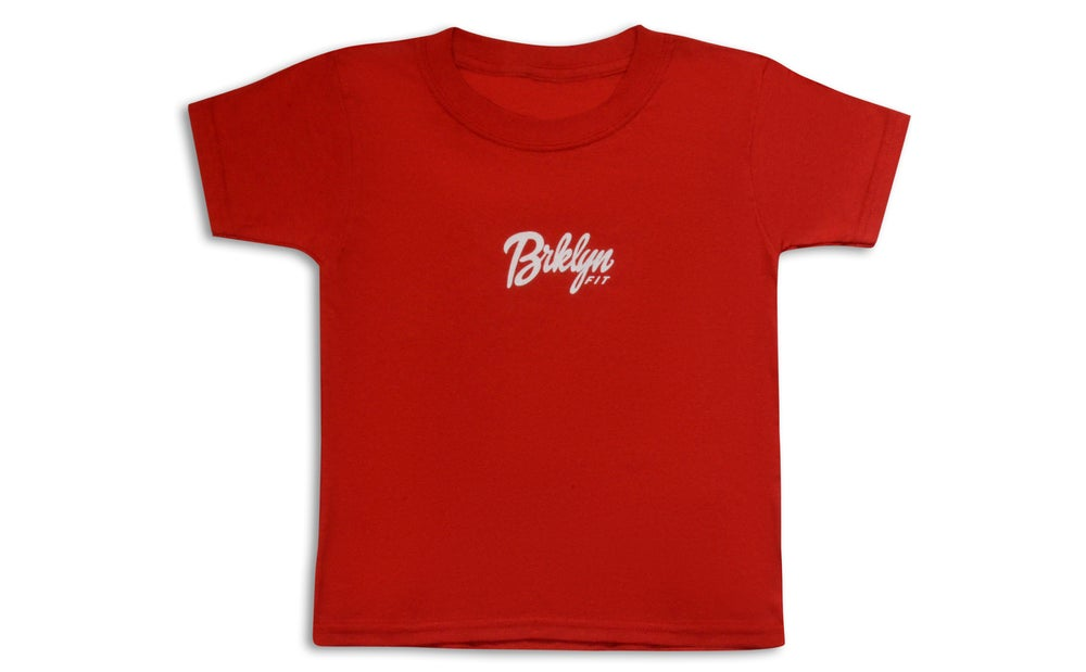 Image of Brklyn Fit® Logo Kids T-Shirt (Red)
