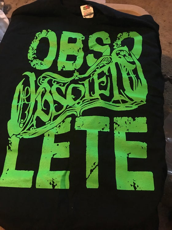 Image of Obso-lete Green Print Shirt