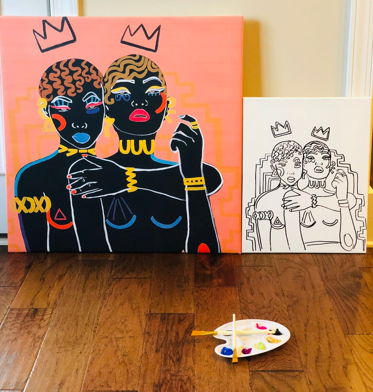 """Image of """"QUEEN TINGZ"""" @ HOME PAINT PARTY KIT"""