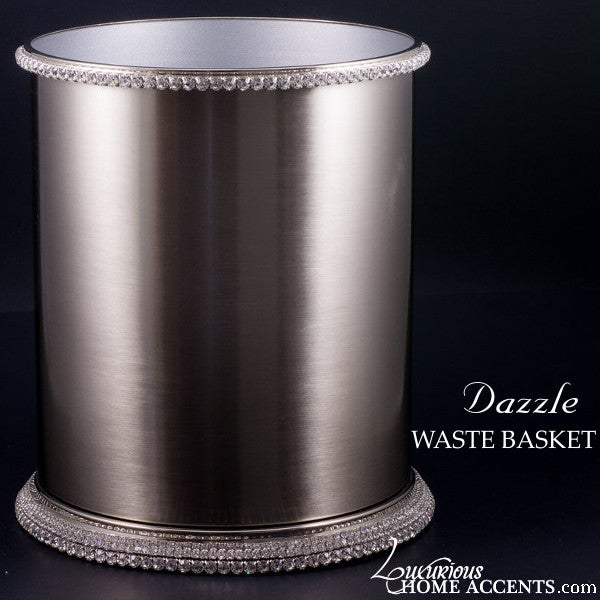 Image of Dazzle Waste Basket with Swarovski Crystals