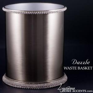 Image of Dazzle Waste Basket with Swarovski Crystals