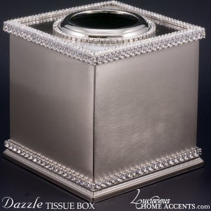 Image of Dazzle Tissue Box with Swarovski Crystals