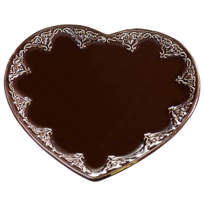 Image of Ceramic Heart Candle Base ~ Large