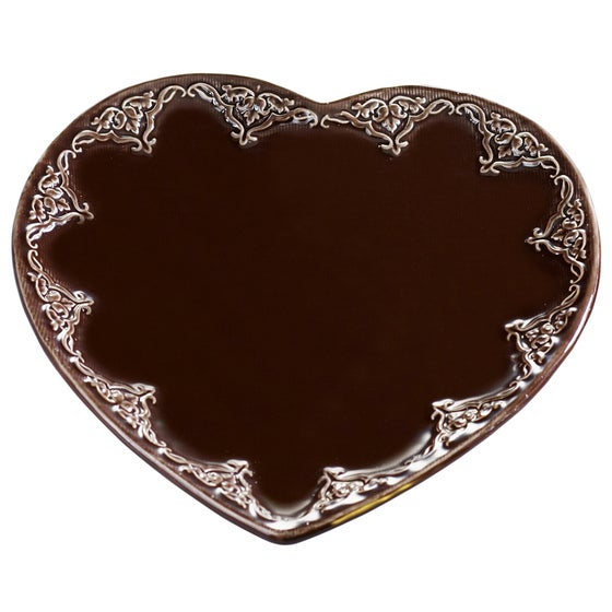 Image of Ceramic Heart Candle Base ~ Large ~ Two Colours