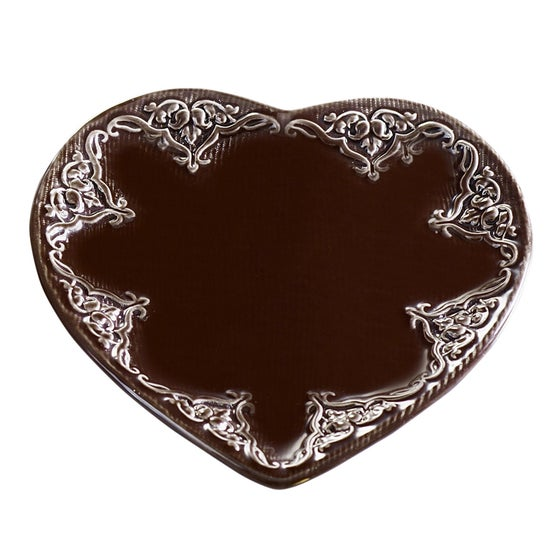 Image of Ceramic Heart Candle Base ~ Small ~ Two Colours