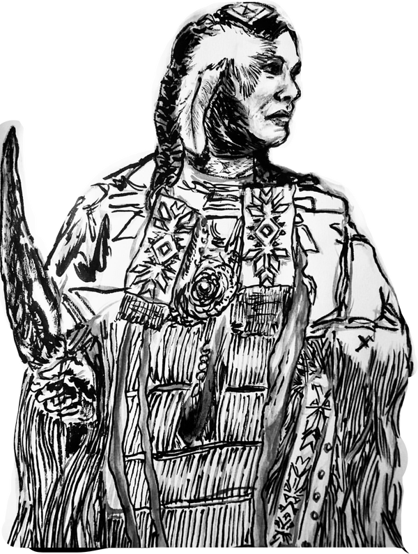 Image of Traditional Pow Wow Dancer - Die-cut