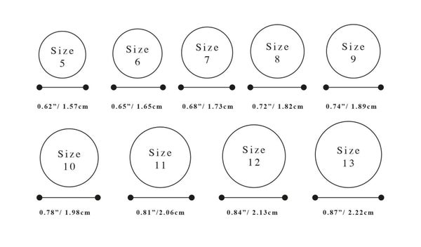 Image of RING SIZES CHART