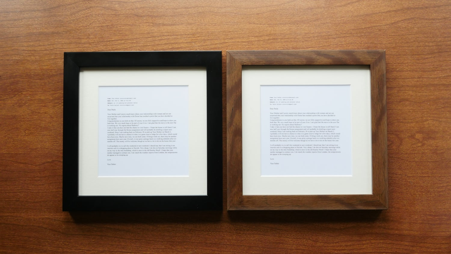 """Image of """"Coming Out to My Father""""  - Matte black frame"""