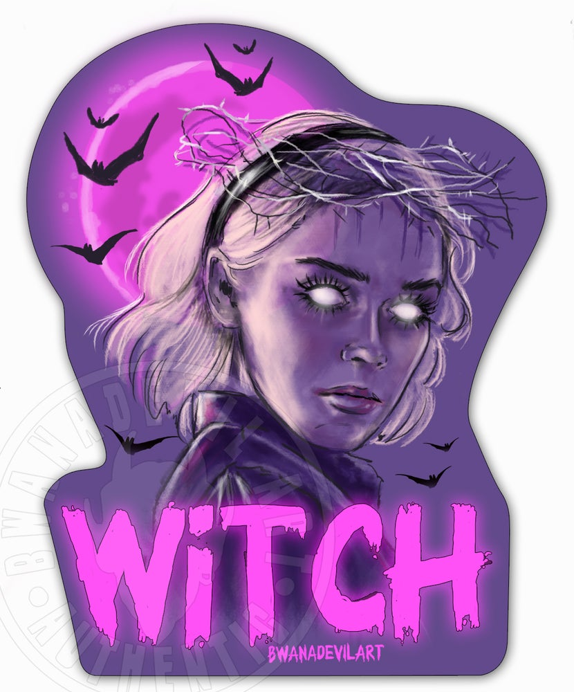 Image of Sabrina Witch (Chilling Adventures of Sabrina) Vinyl Sticker
