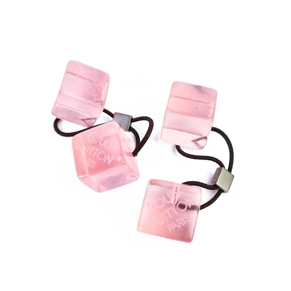 Image of Louis Vuitton Hair Cubes Pink