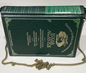 Image of Edgar Allan Poe Green Book Purse