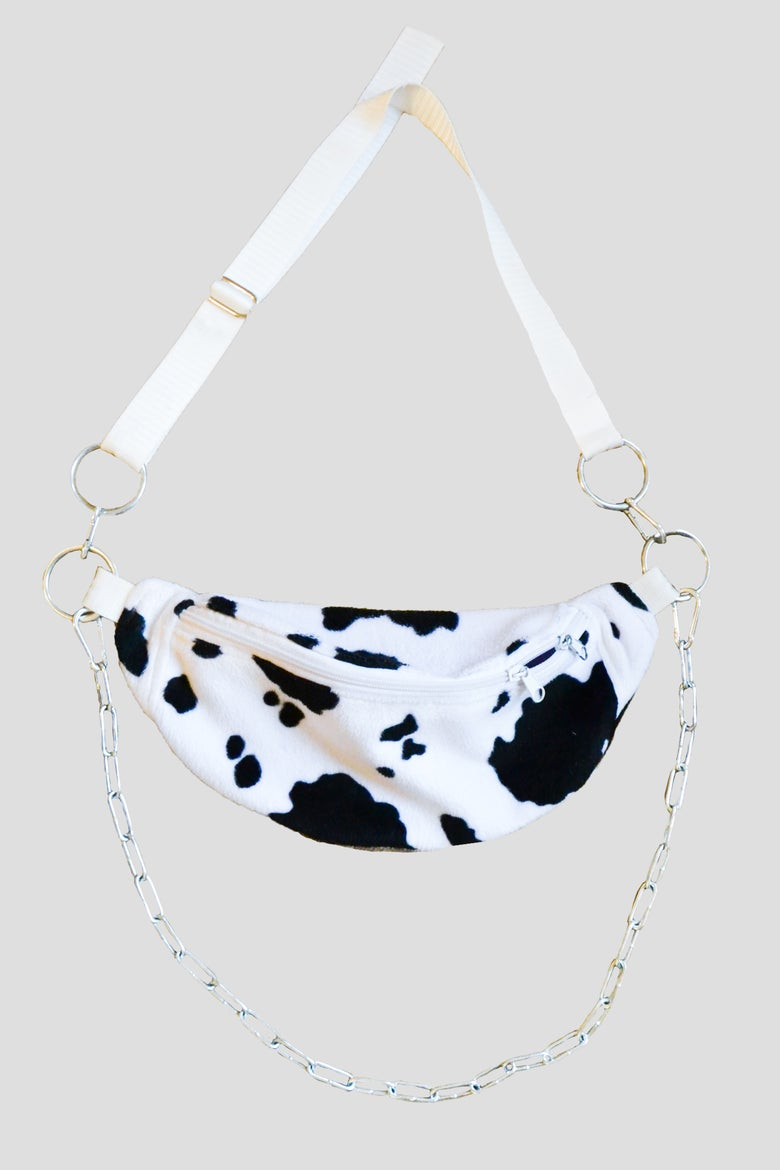 Image of cow fanny pack