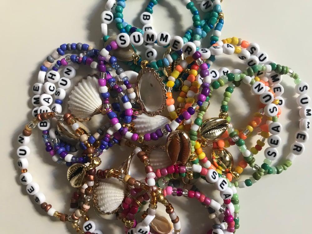 Image of Bracelet perles de rocailles dégradé
