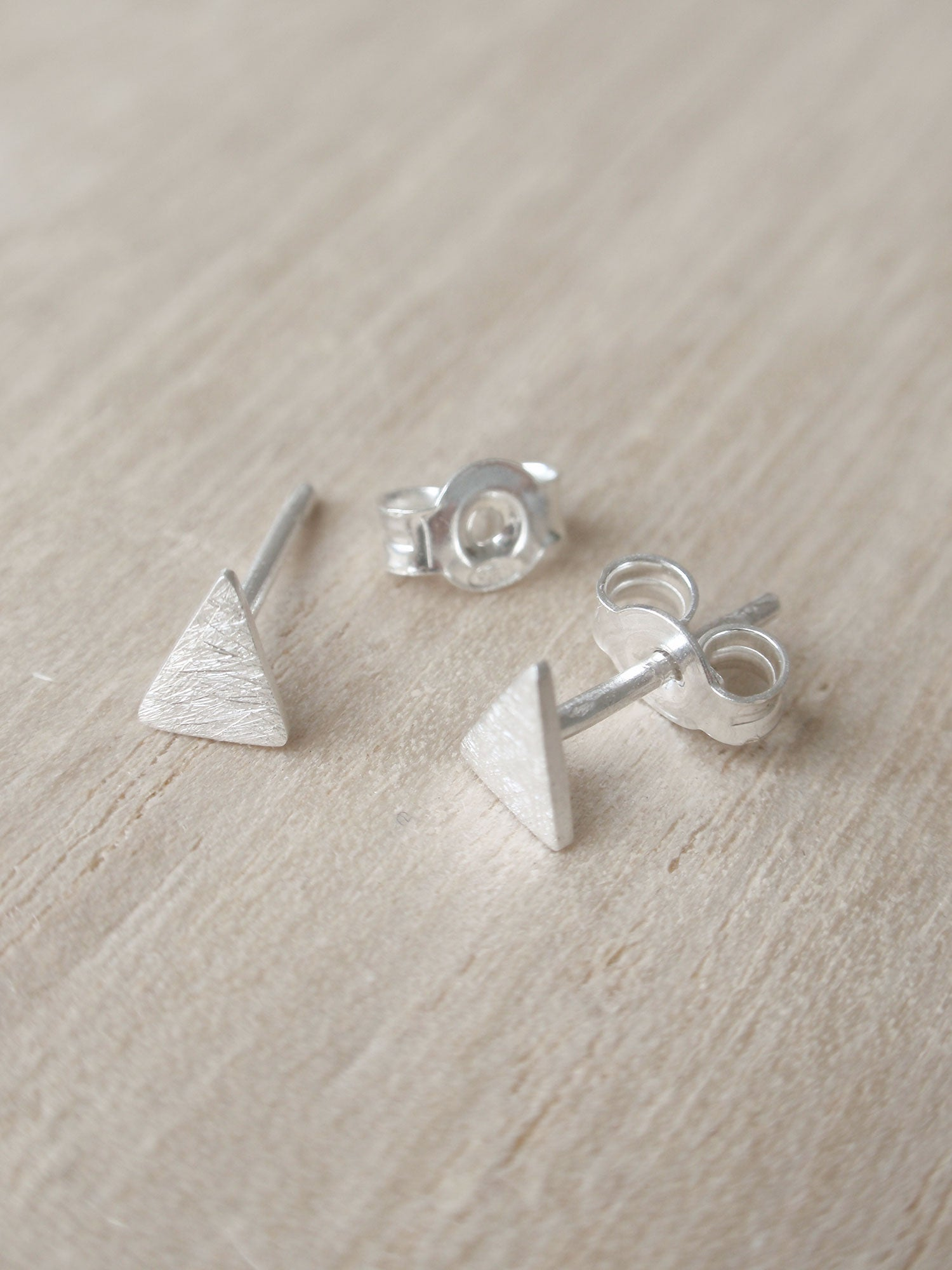 Image of Tiny Triangle Earrings