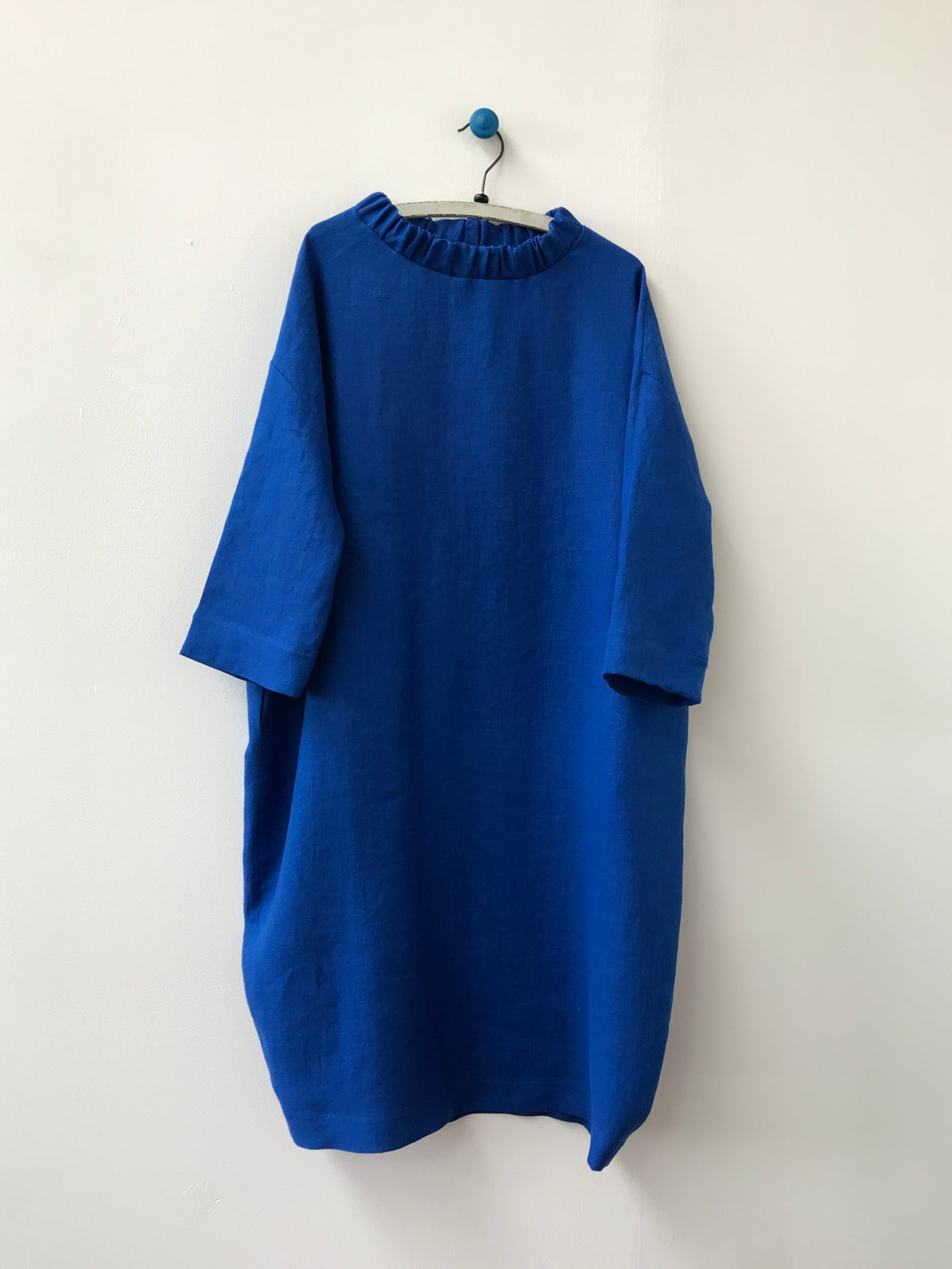 Image of Ruched Neck Cocoon Dress