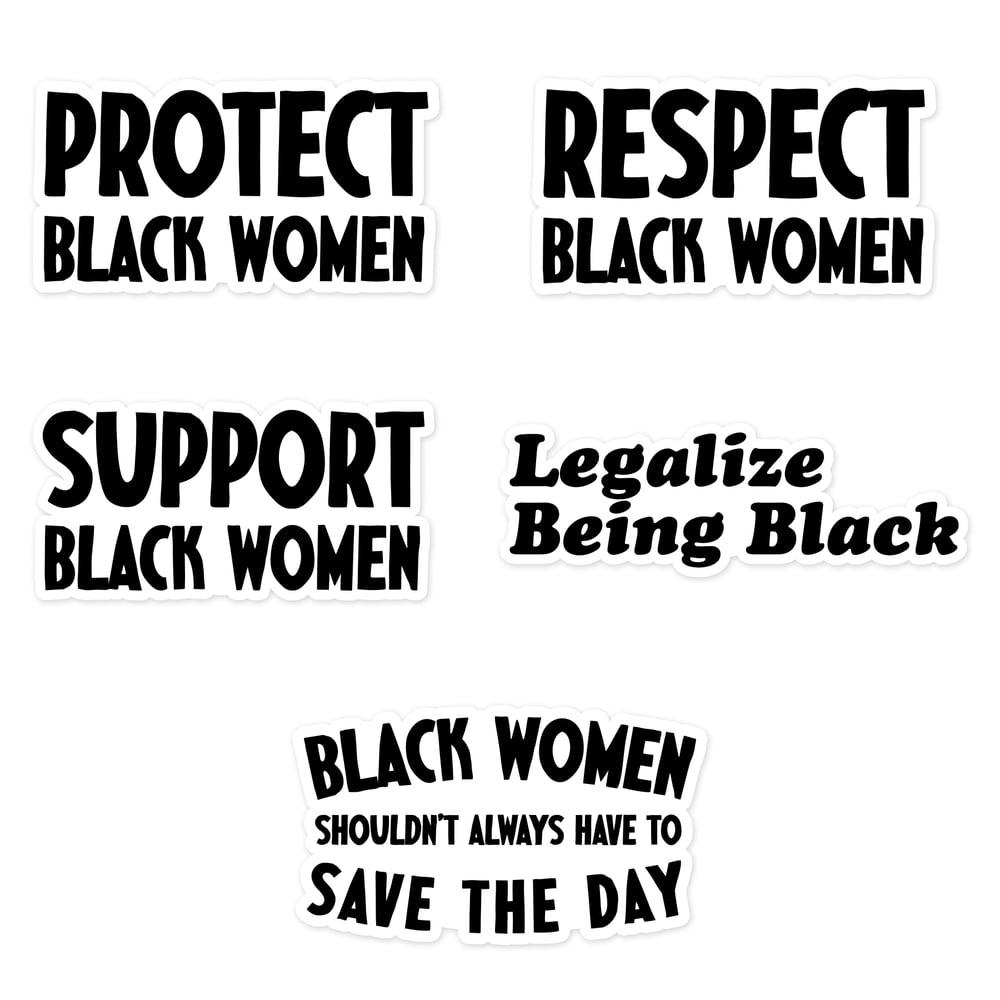 Black Women Sticker Pack