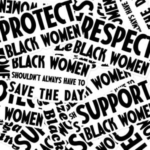 Image of Black Women Sticker Pack