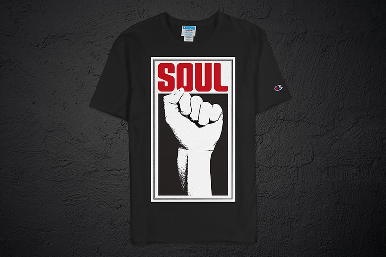 Image of Soul Power Fist Champion Tee (Black)