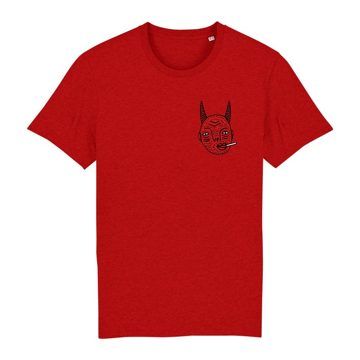 Image of Red Devil Head - Unisex T - By Polly Nor