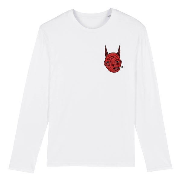 Image of Devil Head Long Sleeve - Unisex T  - By Polly Nor