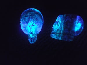 Image of DayGlow Crystal Orgone Alien Skulls