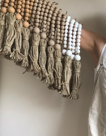 Image of Welcome Tassel in Washed Sand