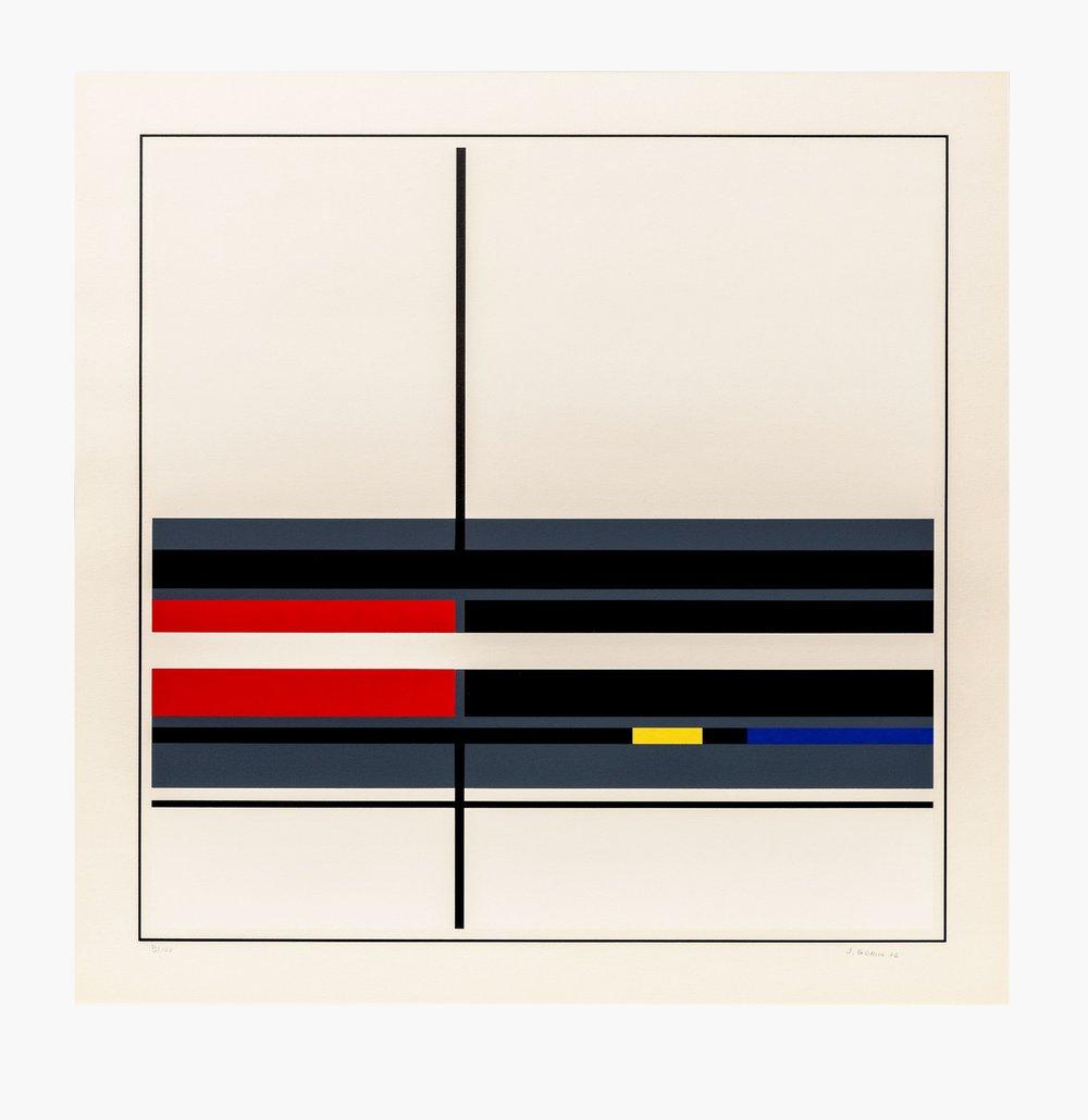 Image of Jean Gorin, geometric composition I, 1976