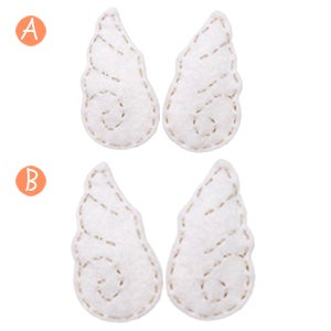 Image of wings hair clips