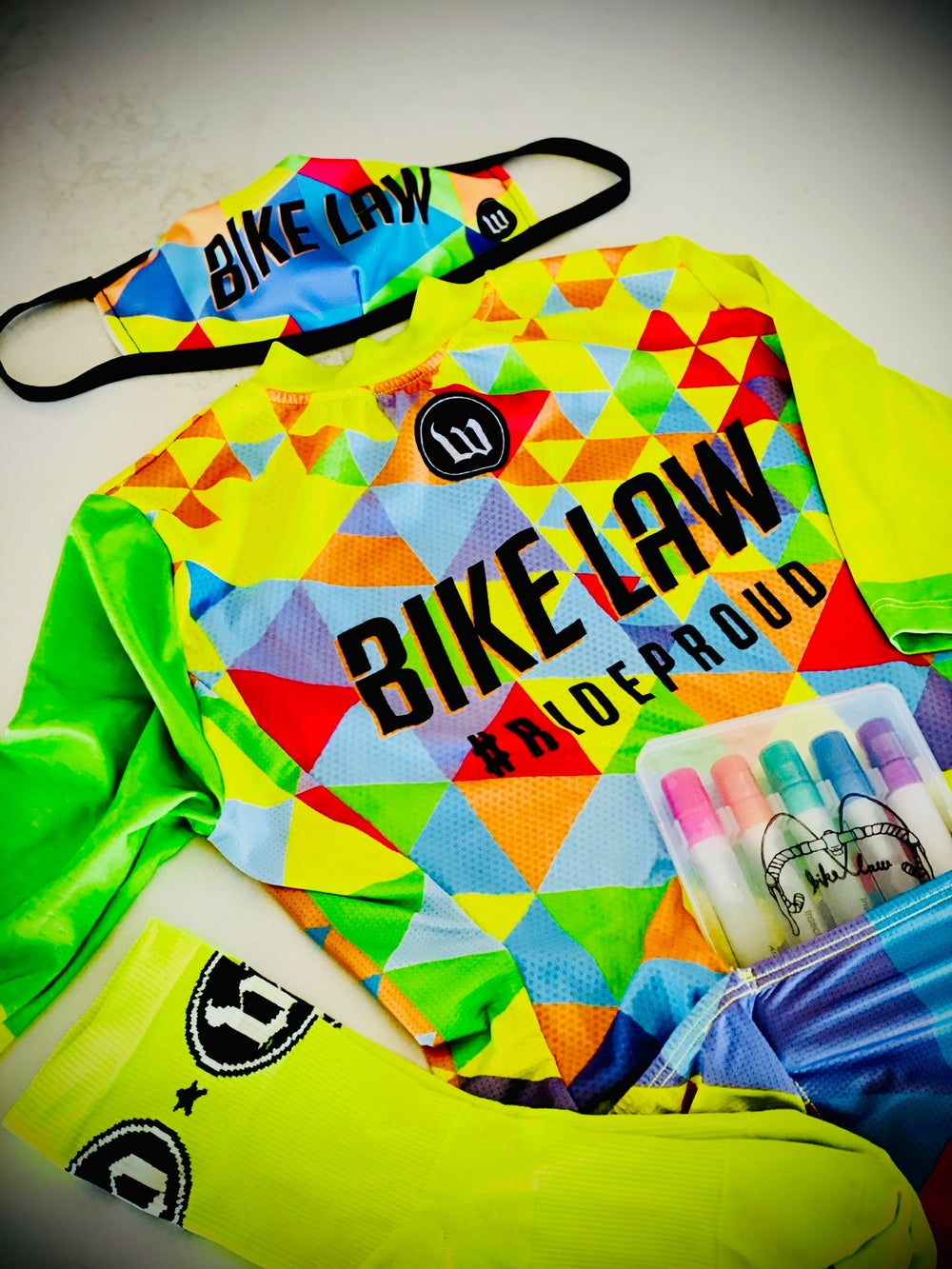 Image of Bike Law x Wattie Ink. Face Mask