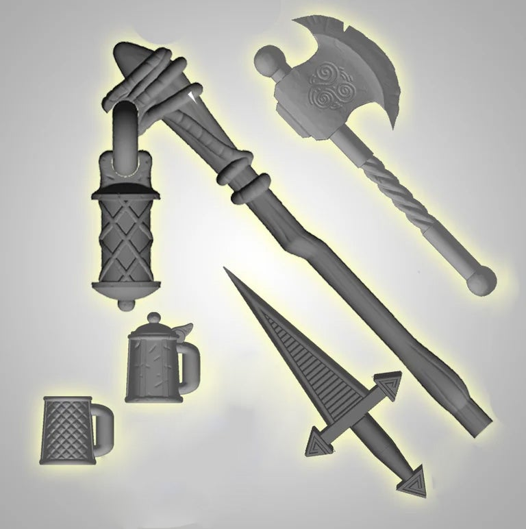 Image of Set of Mouse Guard Accessories - NEW COLORS!