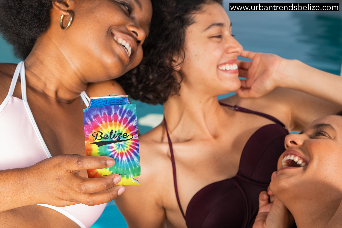 Image of BELIZE TIE DYE CAN KOOZIE NEOPRENE