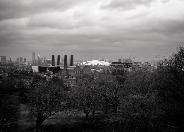 Image of The Dome and East Greenwich Skyline - Black and White Print