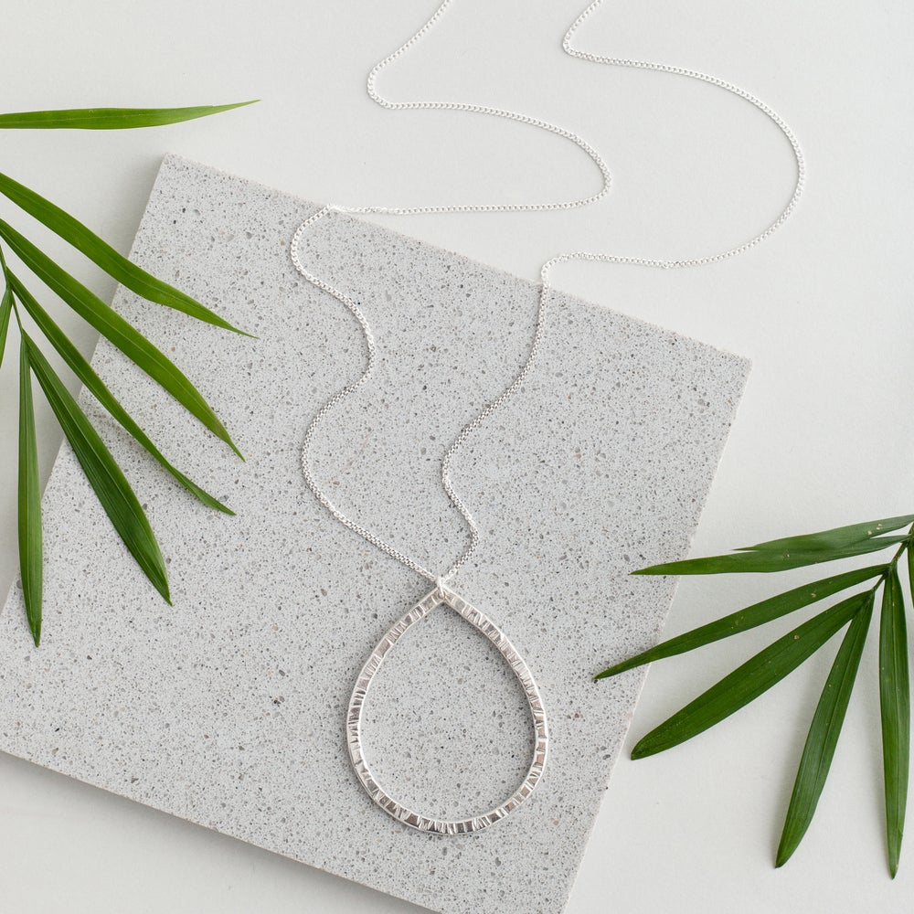 Image of Silver Raindrop Necklace