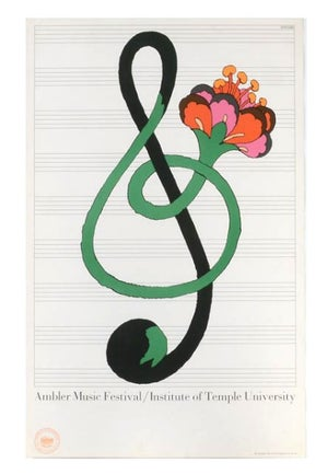 Image of 1967 Ambler Music Festival Lithograph by Milton Glaser