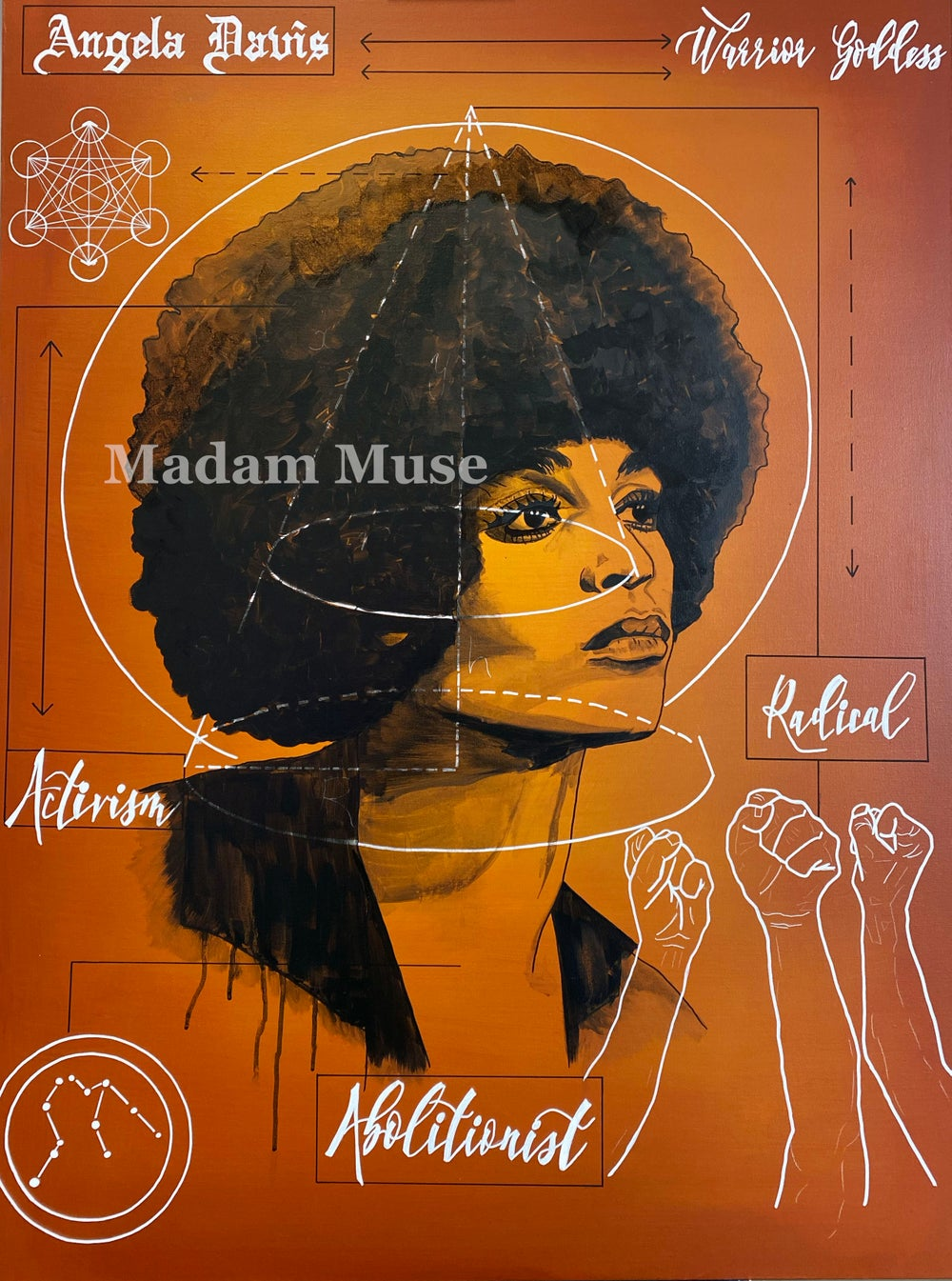 "Image of ""Angela Davis"" Blueprint Series Limited Edition Prints"