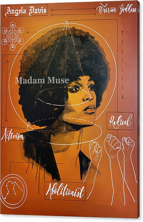 "Image of ""Angela Davis"" Limited Edition Canvas Prints"