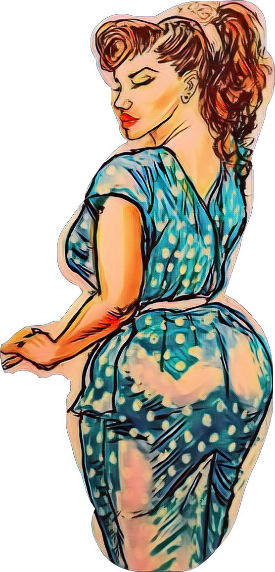 Image of Pinup Girl in Polka Dots