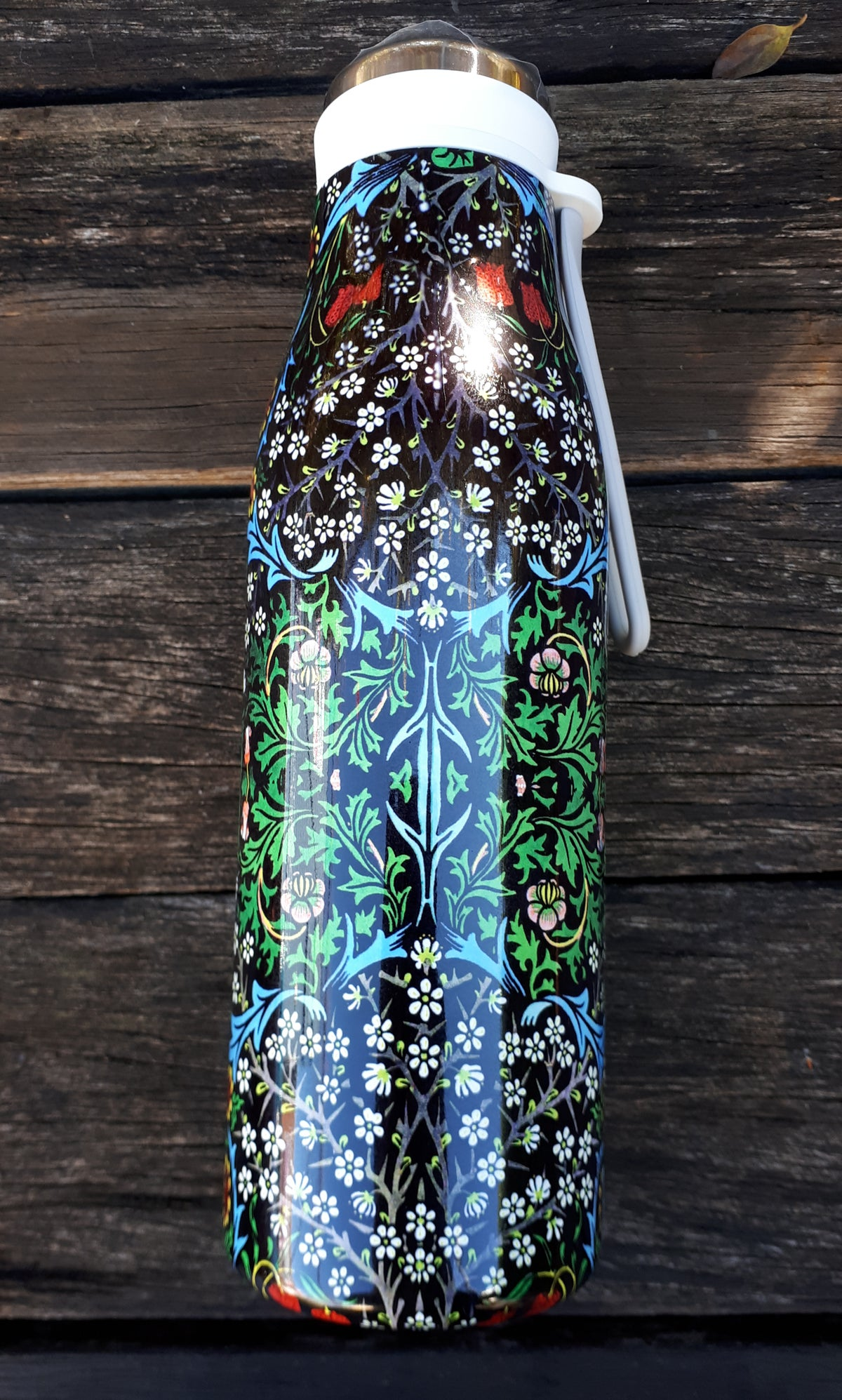 Image of William Morris Drink Bottle - Blackthorn design