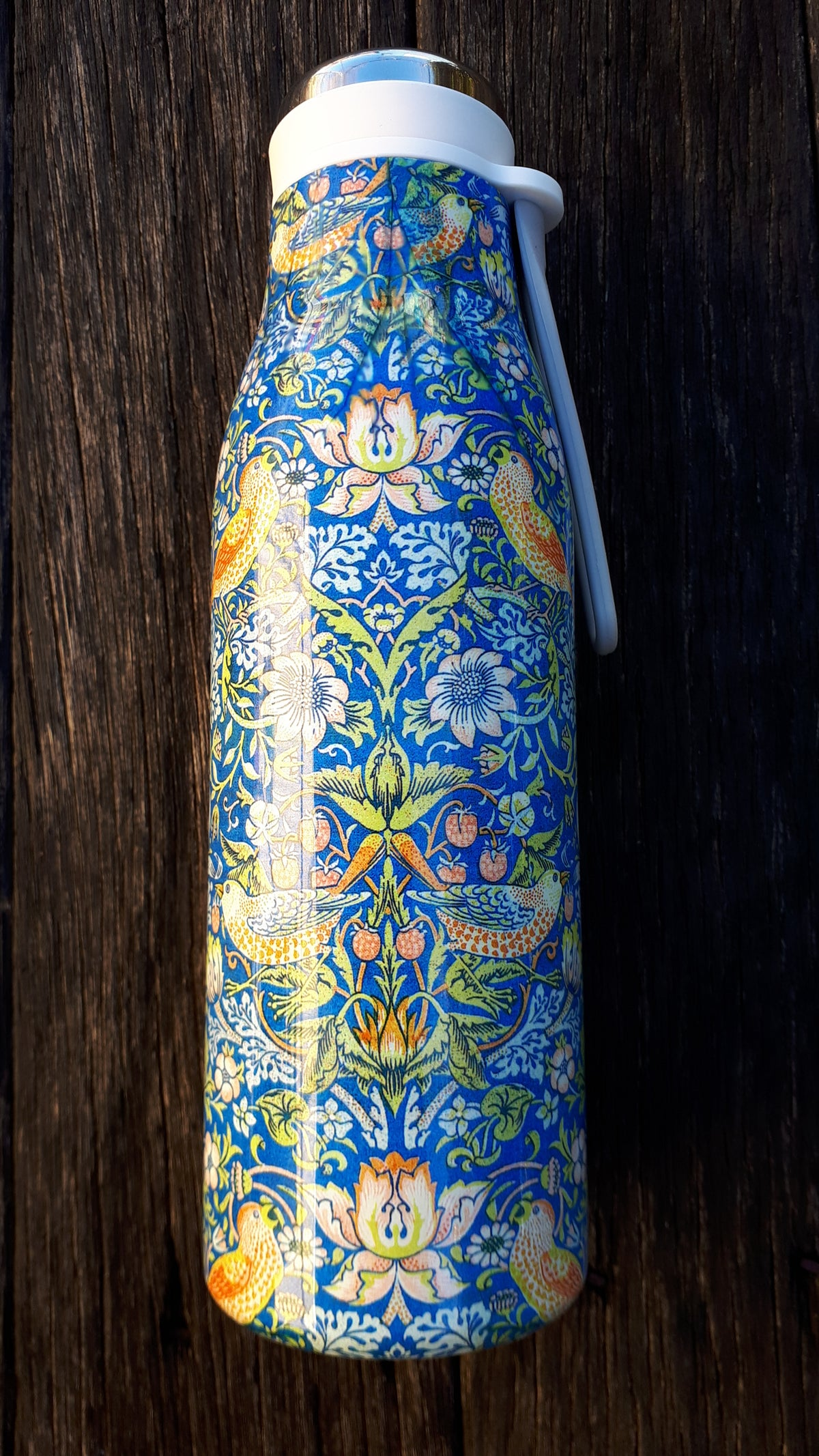 Image of William Morris Drink Bottle - Strawberry Thief design