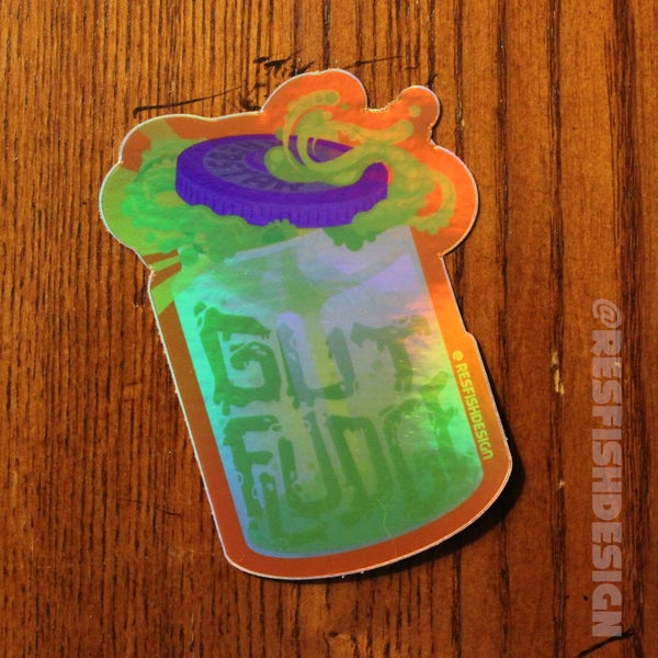 Image of Gut Fludge Holo Sticker