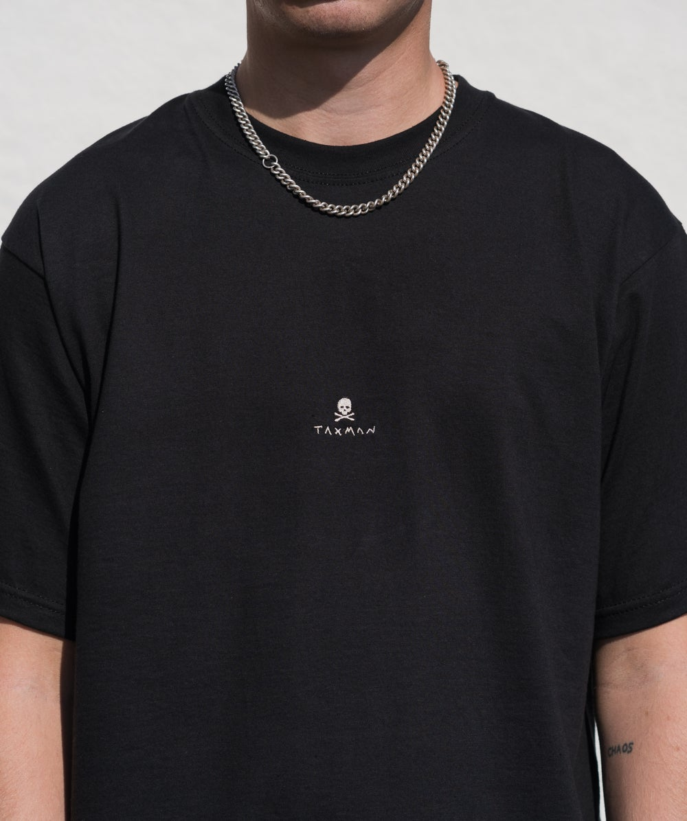 Postal x Taxman BONE SKULL Tee in Black
