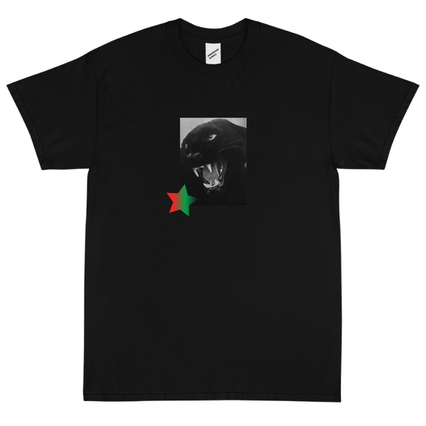 Image of Panther Star Black T Shirt