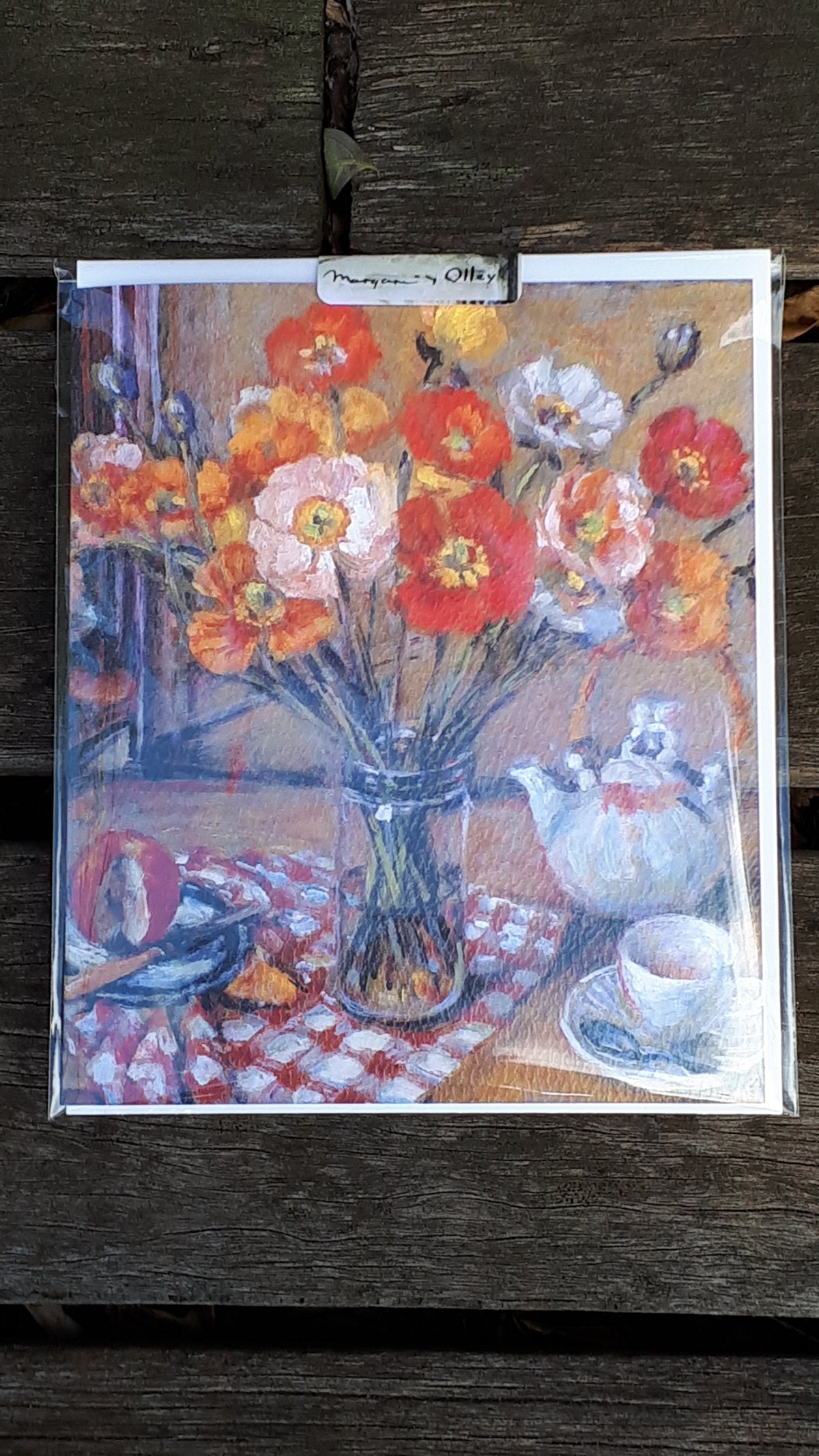 Image of Margaret Olley Blank Card - Poppies in a Glass Jar