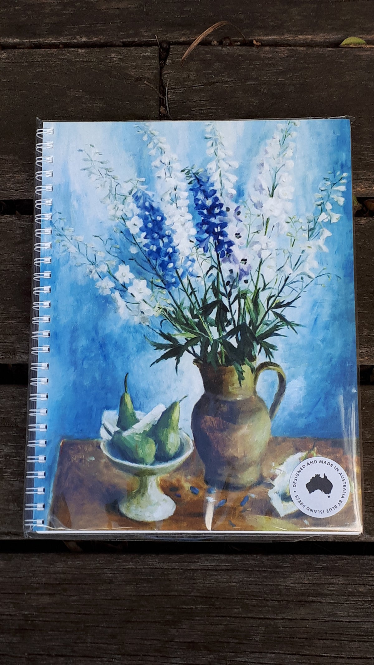 Image of Margaret Olley Large Note Book - Delphiniums and Pears
